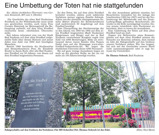 Wetterauer Zeitung vom 12. Oktober 2016
