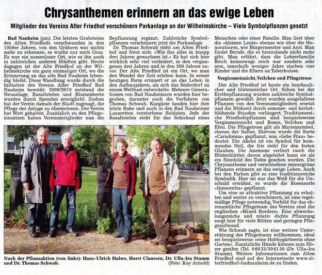 Weterauer Zeitung vom 21. Mai 2012