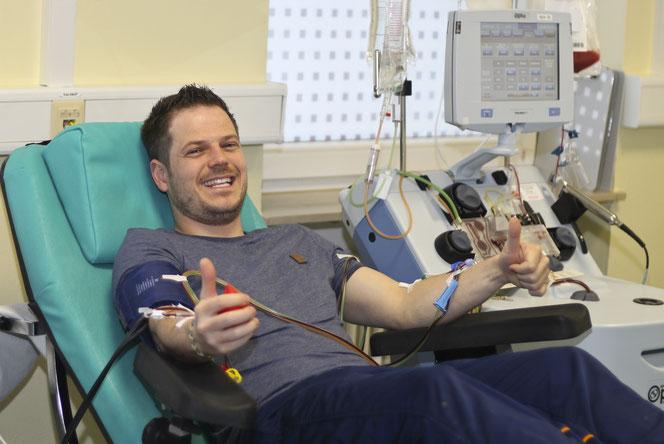 Stammzellspender bedeuten für viele Leukämiepatienten die einzige Chance, den Blutkrebs zu überleben. Foto: Stefan-Morsch-Stiftung/Annika Bier