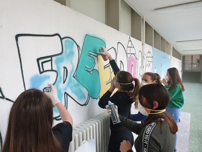 Mehrtägiger Graffiti-Workshop in Endingen bei Freiburg (D.)