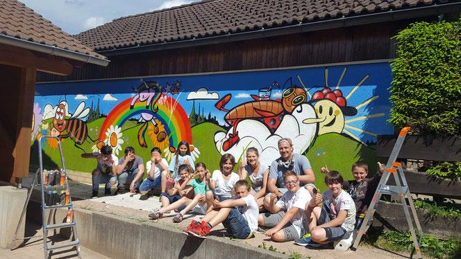 Graffitiworkshop Ferienprogramm Löffingen Schwarzwald