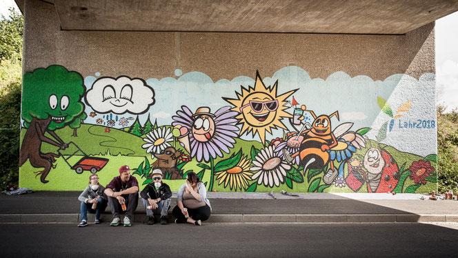Graffiti-Workshop für die Bundesgartenschau 2018 in Lahr Schwarzwald zusammen mit der NAL