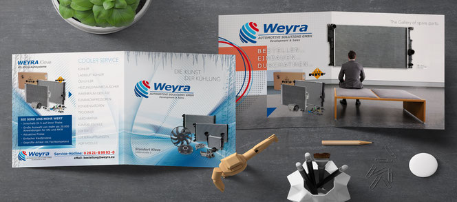Folder Firma Weyra Automotive Solution GmbH aus Kleve.