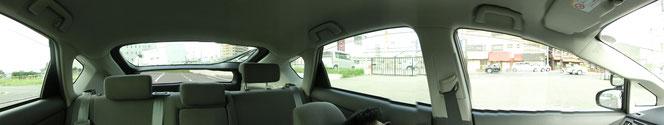 プリウス 運転席から見た左&後方