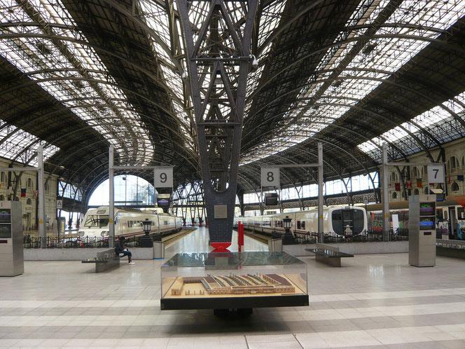 Andenes en la estación de Barcelona França