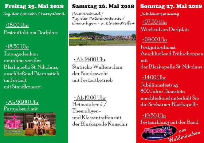 Festprogramm Heimatfest