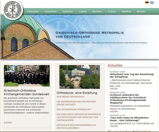 Homepage der Griechisch-Orthodoxen Metropolie