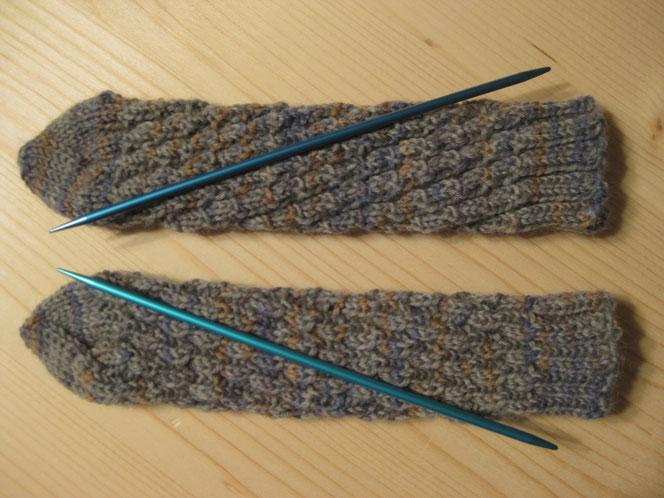 copyright www.birthe.eu Birthe Sülwald diagonale Socke Baby