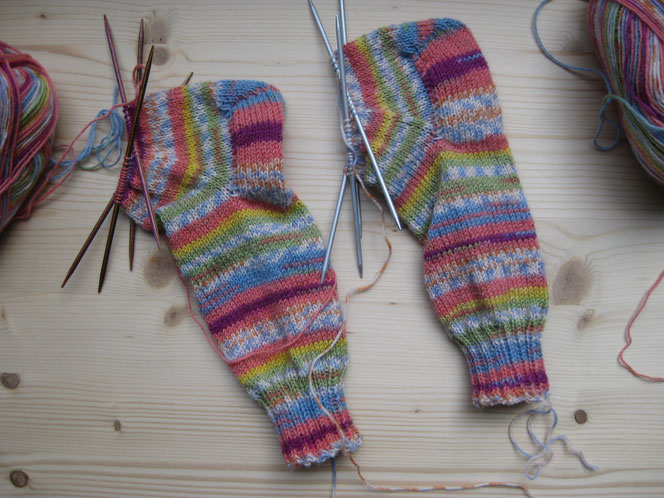 copyright www.birthe.eu Birthe Sülwald Kindersocken 5