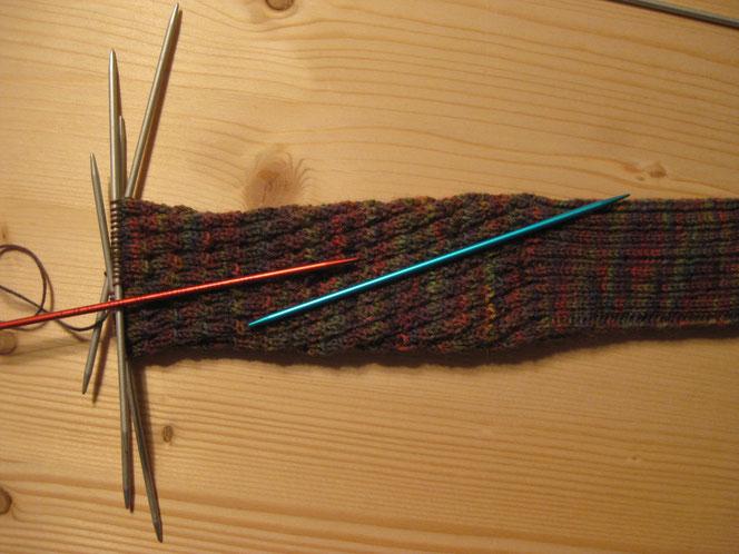 copyright www.birthe.eu Birthe Sülwald diagonale Socke Diagonale
