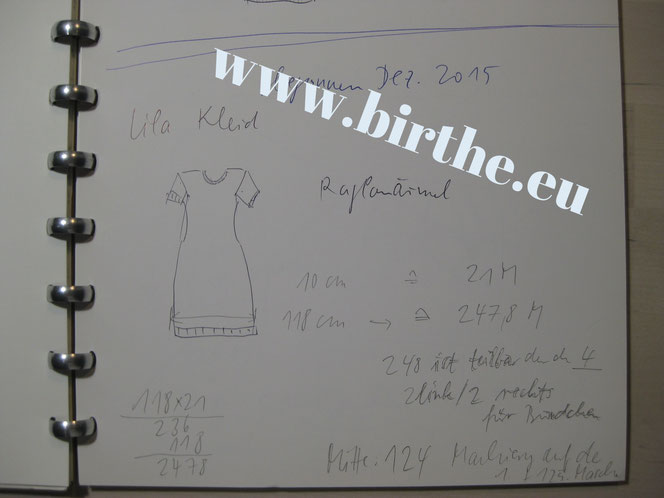 copyright www.birthe.eu Birthe Sülwald Strickkleid 4