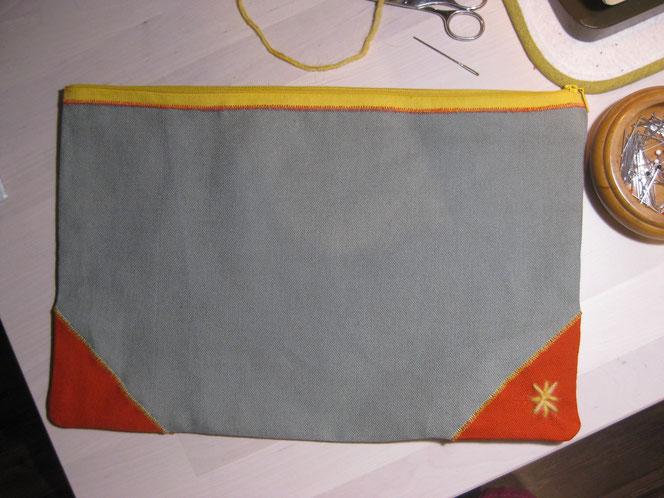 copyright www.birthe.eu Birthe Sülwald Tasche mit Reißverschluß 12
