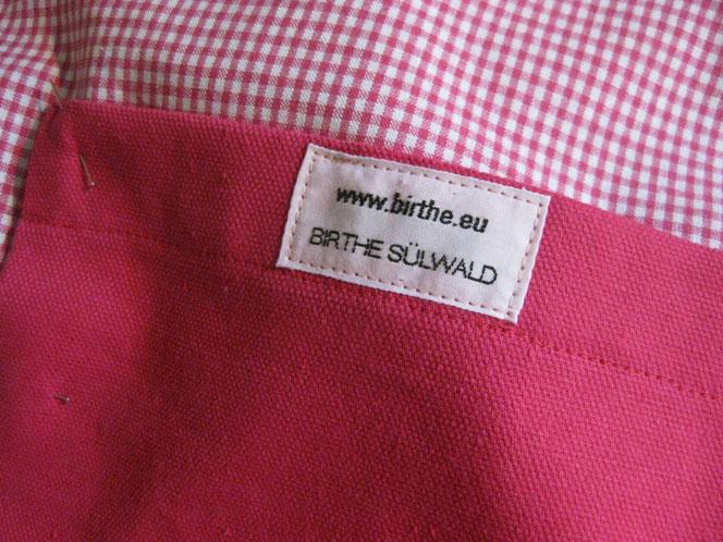copyright www.birthe.eu Birthe Sülwald Tasche Karo
