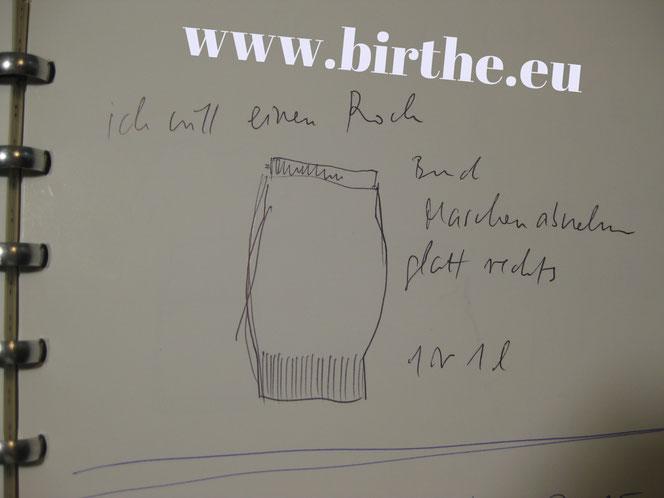 copyright www.birthe.eu Birthe Sülwald dunkelblauer Strickrock 2