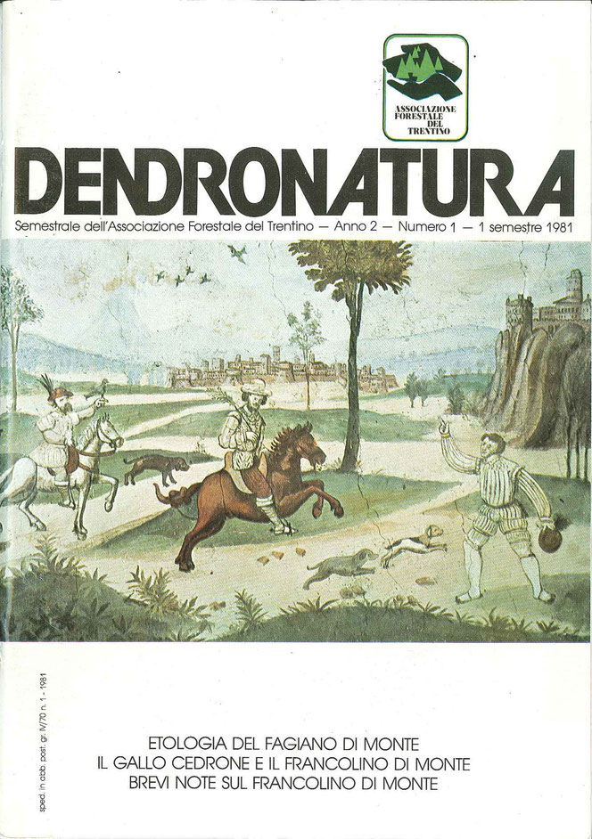 Foto di copertina (F. Faganello): Affresco del tardo Cinquecento di una scena di caccia - Castel Campo - Lomaso (TN)