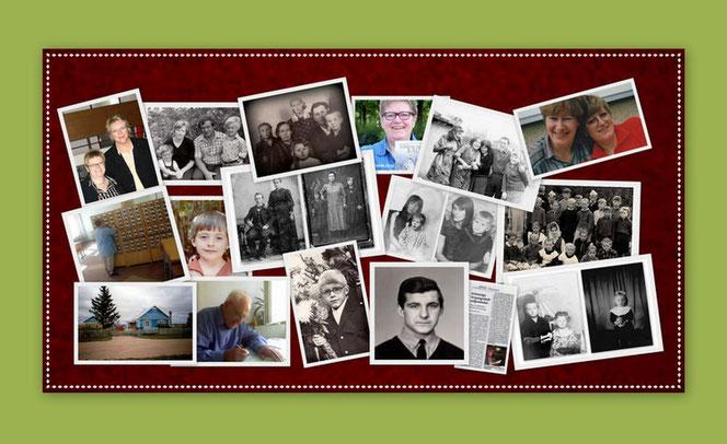 Collage mit persönlichen Bildern von Rosa Ananitschev
