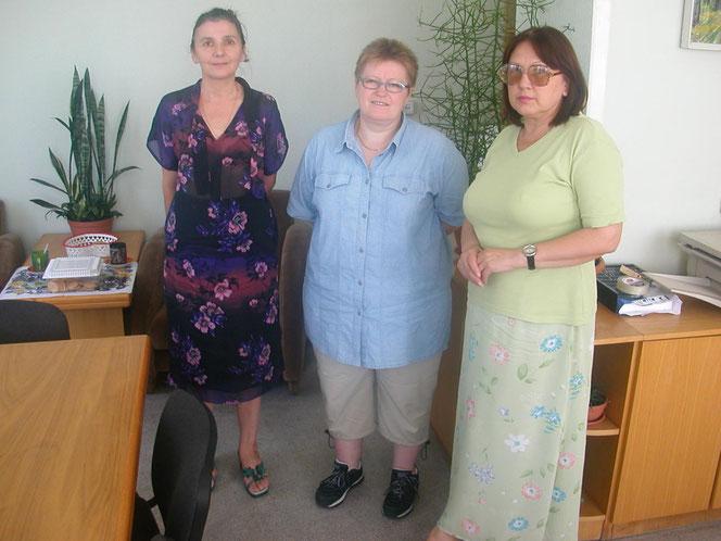 Mit der Leiterin und der stellvertretenden Leiterin der Unibibliothek