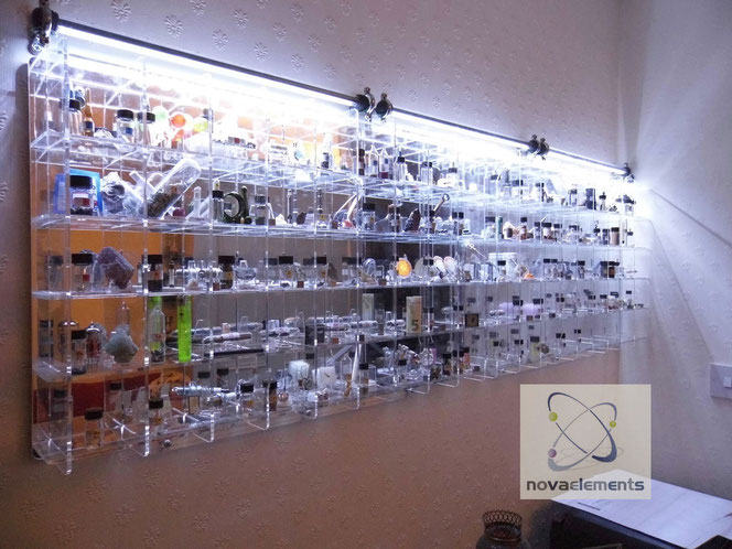 periodic table of elements display, acrylic periodic table of elements display from private collectors