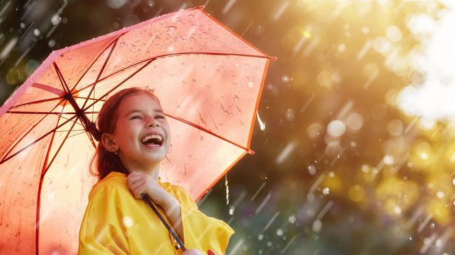 """""""Singing in the Rain"""" – Auf Regen folgt Sonnenschein. Quelle: WetterOnline"""