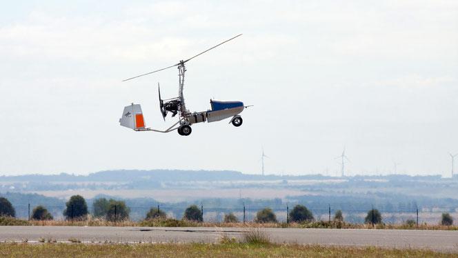(Foto: DLR )Flugversuche zeigen, dass Tragschrauber eine geeignete Konfiguration für den unbemannten Lufttransport sind