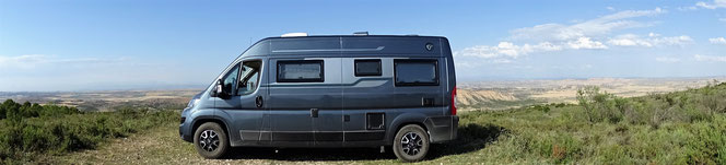 © virees en camping car Bardenas Espagne