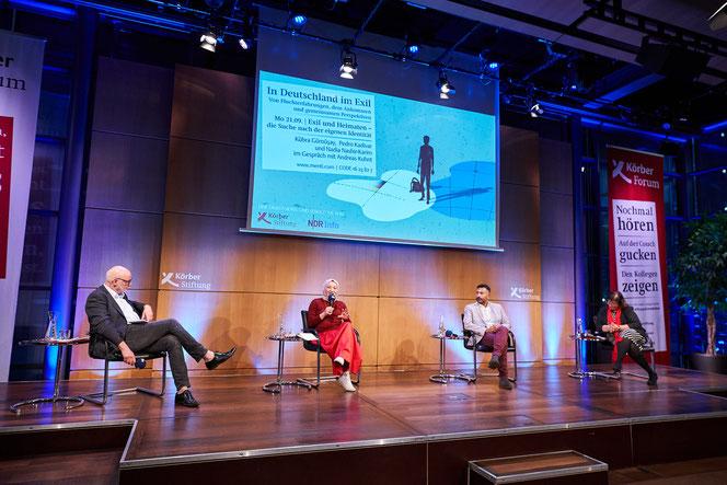 Die dreiteilge Veranstaltungsreihe »In Deutschland im Exil« im Hamburger KörberForum (Foto: Claudia Höhne)
