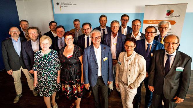 Vereint engagiert: Bürgermeister:innen Engagierter Städte während eines BarCamps der Engagierten Stadt (Foto: Engagierte Stadt/Jörg Farys)