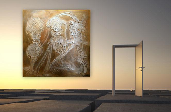 Moderne Kunst Bilder Schwarz Weiss ~ Abstraktes bild schwarz weiß moderne kunst deinebilder