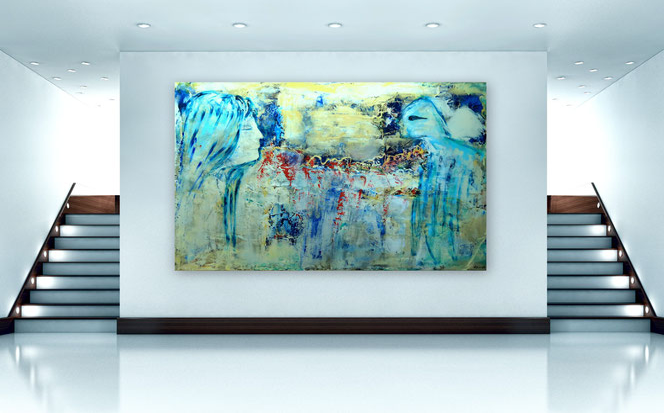 Abstrakte Malerei, Skyline, Stadt, Moderne Malerei, Spachtel Gemälde, Kunst, XXL, gespachtelt, Moderne Gemälde, Strukturen, zeitgenössische Malerei, Kunst, Kunstmalerei, Galerie, hochwertige Gemälde, Modern, Abstrakt,