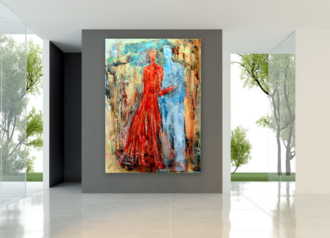 Abstrakte Malerei, Modern, Gemälde, Stadt, Skyline,  schwarz-weiß, figurativ, kraftvolle Strukturen, zeitgenössische, Kunst, Abstrakte Malerei, Kunstgalerie, großformatige Bilder,