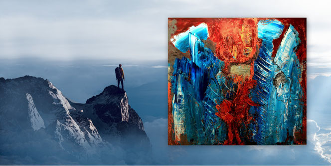 Abstrakt, Acryl, Gemälde, Bilder, Grafische Malerei, Rot, Gold, XXL, großformatig, Moderne Kunst, Originale,