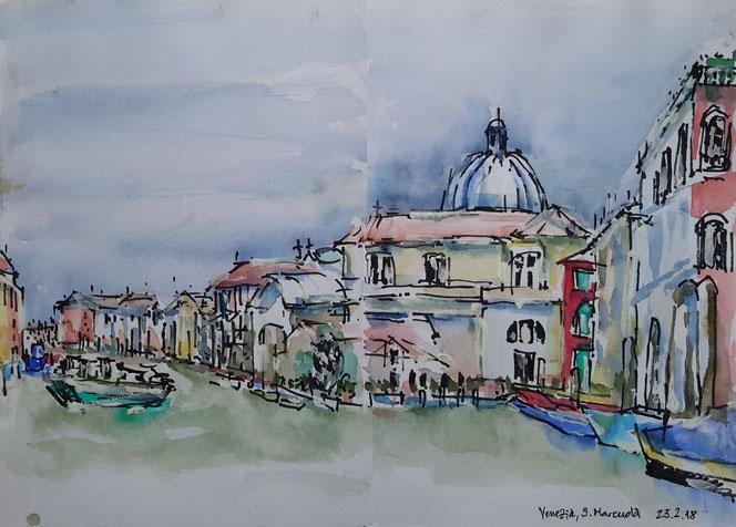 Venezia - Grand Canale - Standort: Statione Vaporetto San Marcuola 23. Feb.  2018
