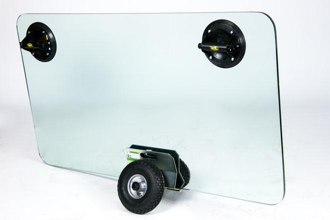 TS 300 Air Plattenroller mit Klemmbacken transportsolution Glastransportwagen