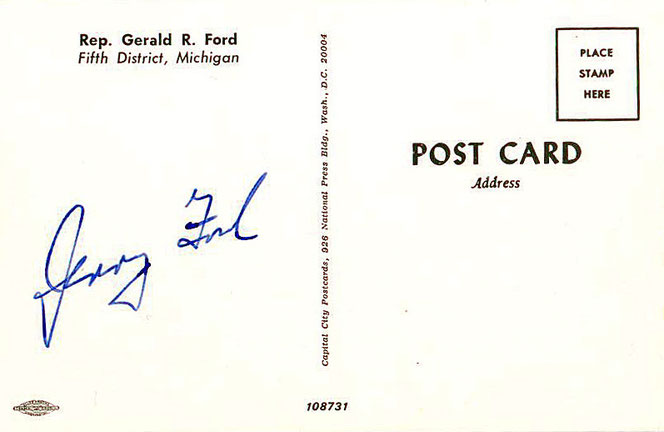 Autograph Gerald Ford US President Autogramm