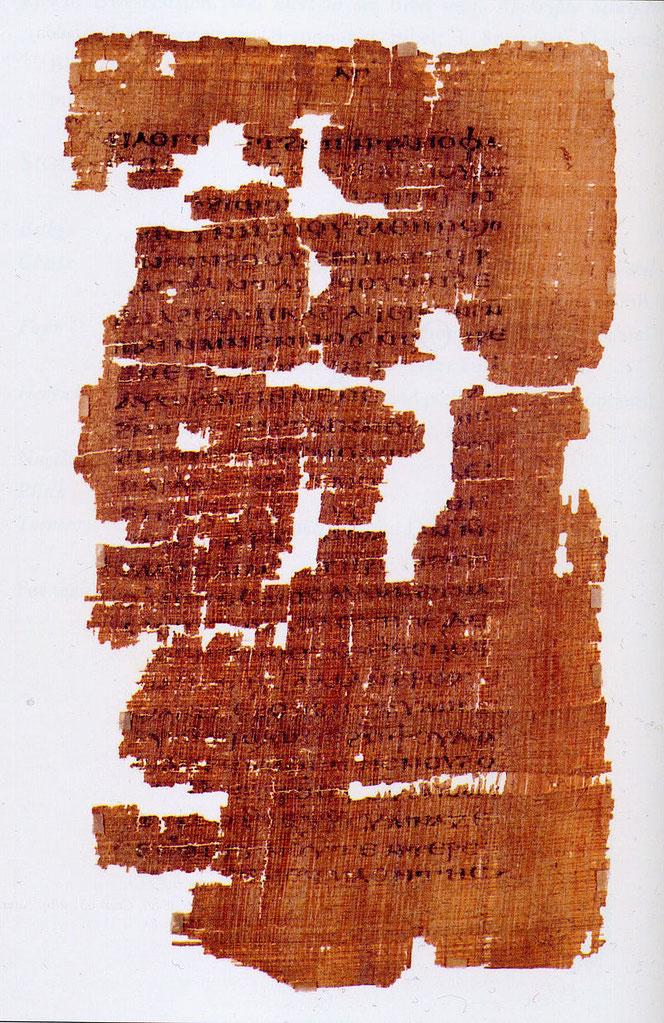 Seite aus dem Evangelium des Judas (Codex Tchacos, 4. Jhd.)