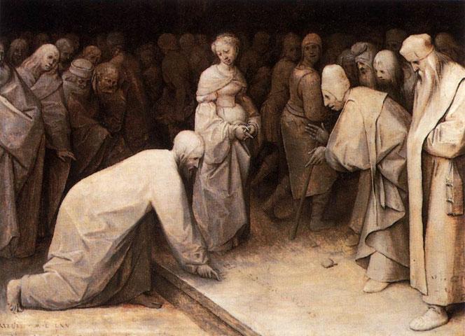 Pieter Bruegel d. Ä.: Christus und die Ehebrecherin (1565)