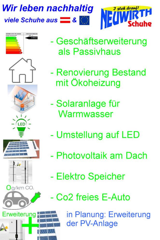 Passivhaus - Renovierung Altbestand mit Ökoheizung - Solaranlage - LED - PV-Anlage mit Speicher - E-Auto CO2-frei