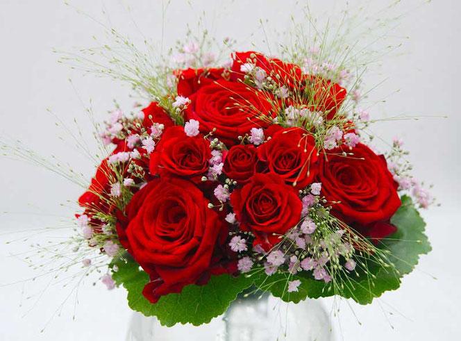 Brautstrauss Rosen rot rosa