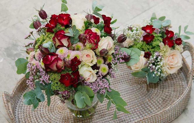 Hochzeitsfloristik Wien Blumen für Tischdeko