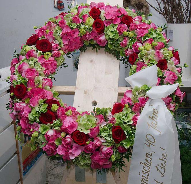 Trauerkranz Hortensien Beerdigung Wien