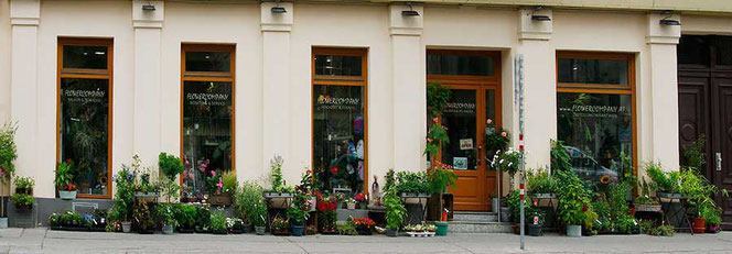 The flower shop Flowercompany in 1050 Wien, Pilgramgasse 4.