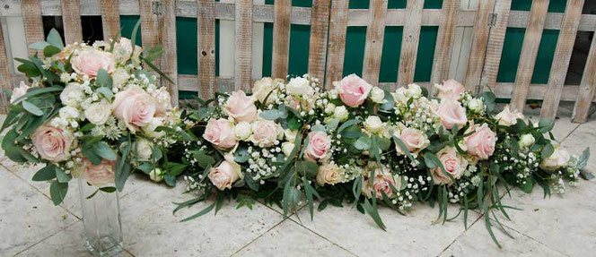 bridal bouquet and table decoration vienna