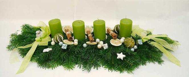 Adventszopf grün