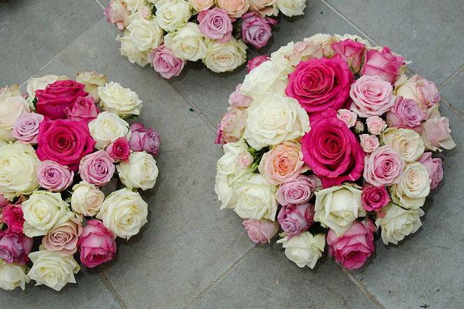 Tischdeko Rosen Hochzeitsfloristik Wien