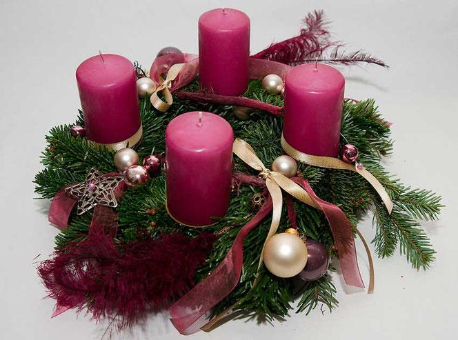 adventskranz weihnachtsdekoration diy in wien flowercompany. Black Bedroom Furniture Sets. Home Design Ideas