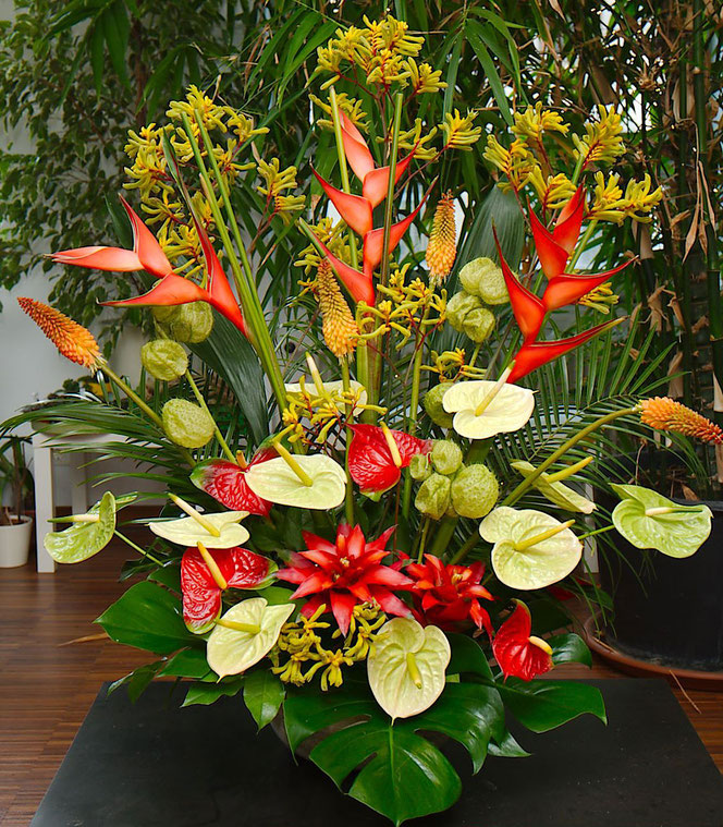 Exotic flowers centerpiece, Vienna Austria
