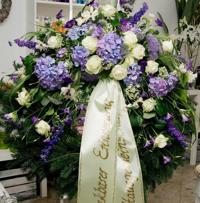 Kranz Begräbnis Wien Hortensien