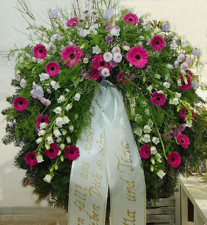 Trauerfloristik Kranz Beerdigung Wien