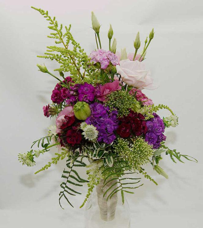 wedding bouquet with meadow flowers