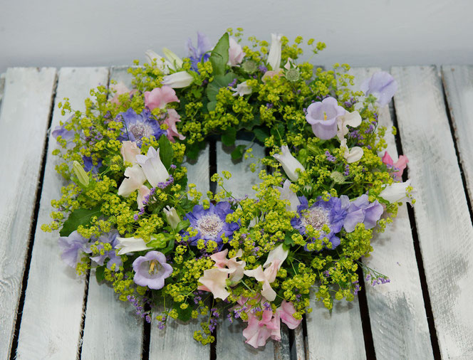 Wreath with summer flowers, vienna Austria